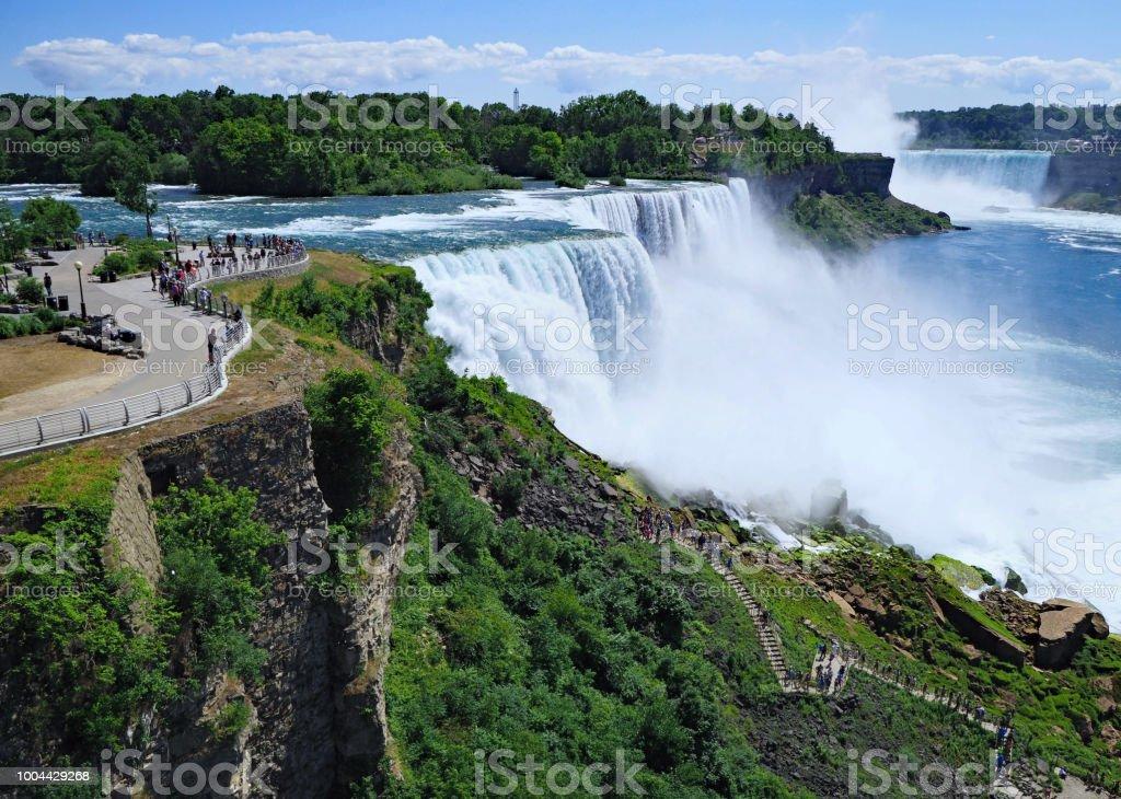 Niagara Falls, viewed on the American side stock photo