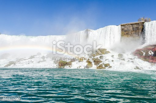 Niagara Falls with the rainbow, Ontario Canada