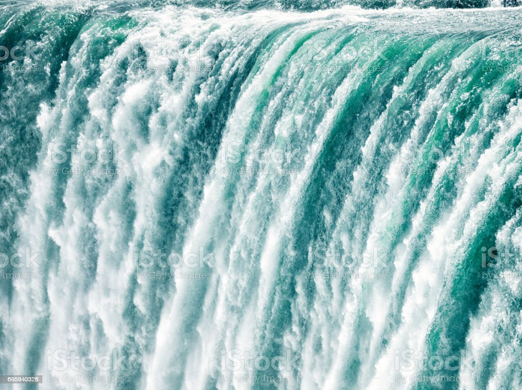 Niagara fast shutter speed close-up stock photo
