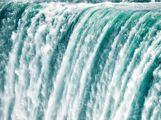 niagara fast shutter speed close-up - waterfall stock photos and pictures
