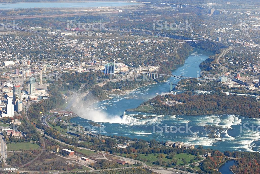 Niagara from above royalty-free stock photo