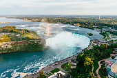 Niagara Horseshoe Falls from aerial point of view