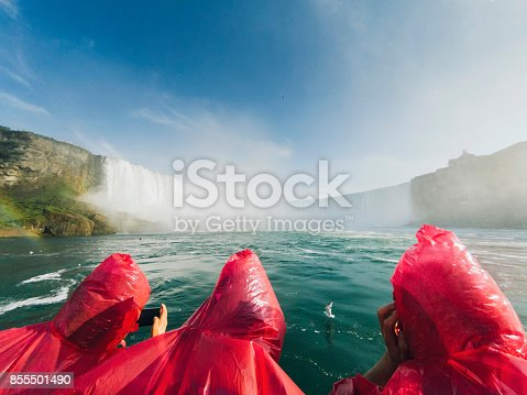 istock Niagara Horseshoe Falls from aerial point of view 855501490