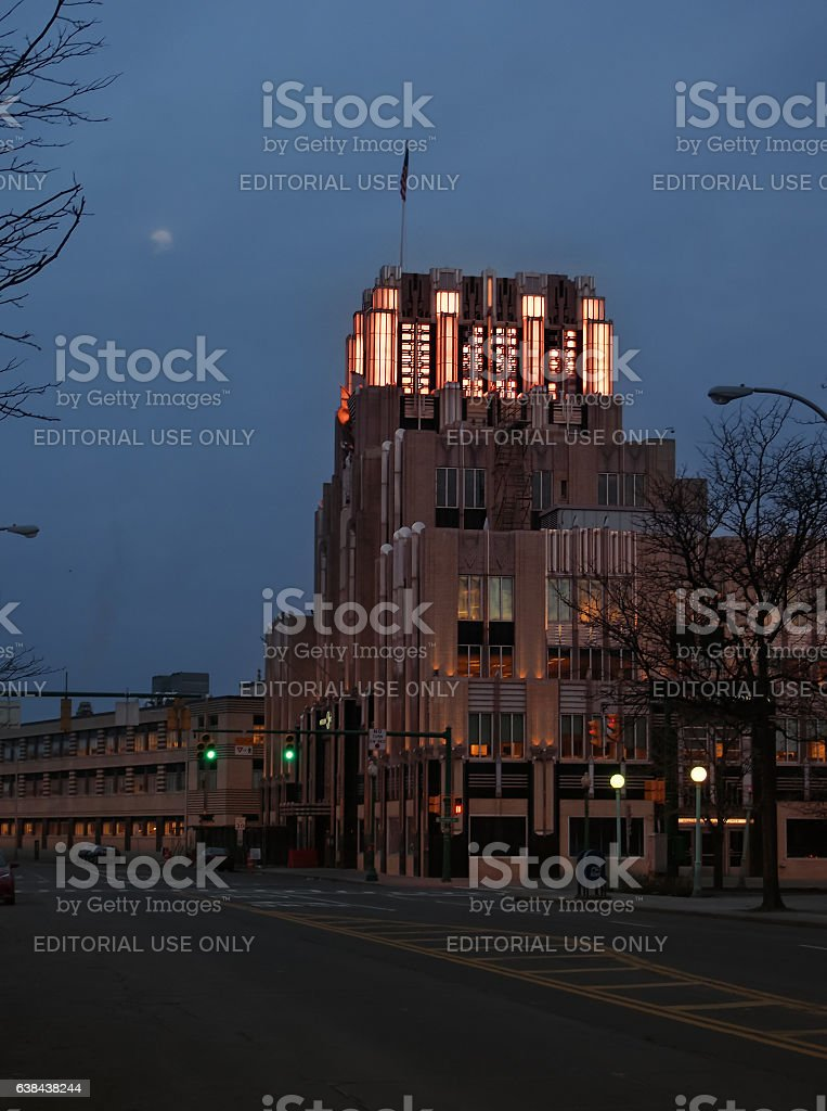 Niagara Mohawk Building stock photo