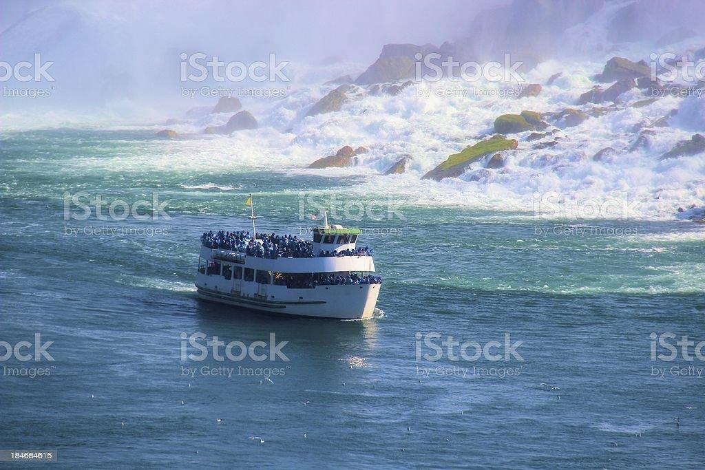 Niagara River Boat stock photo