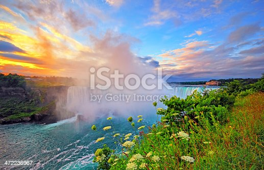 Niagara Falls in early morning sunrise