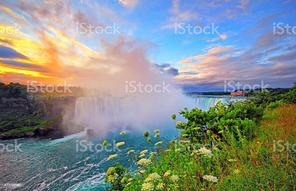 Niagara Sunrise stock photo