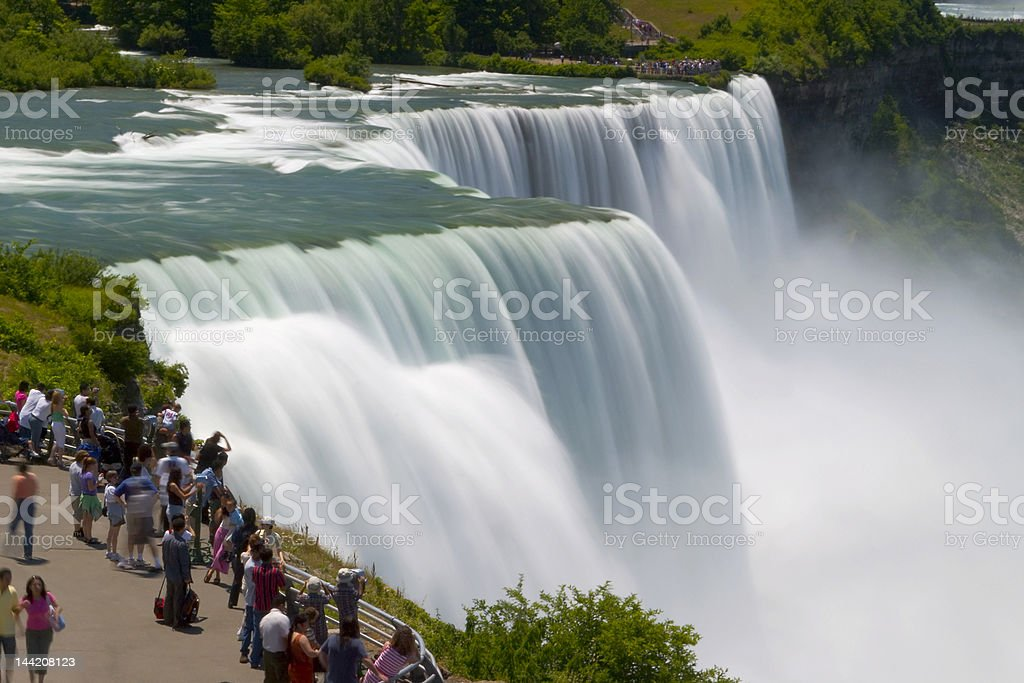 Niagara Tourists royalty-free stock photo