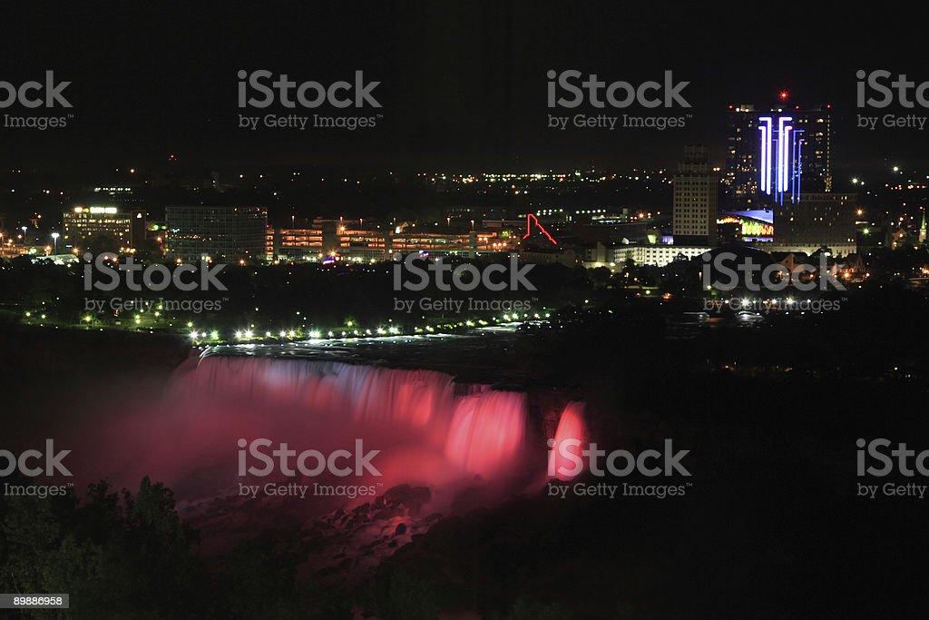 Niagara Waterfall in night royalty-free stock photo