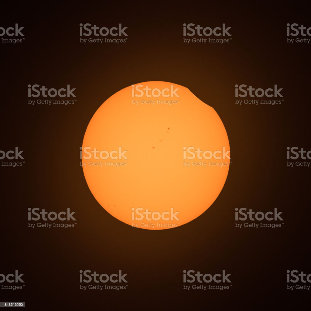 Nibble out of the Sun stock photo