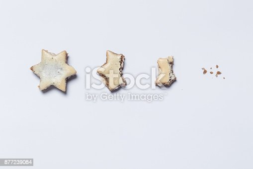 istock nibbled off cinnamon stars on white background as symbol of the advent season 877239084