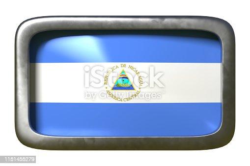 istock Nicaragua flag sign 1151455279