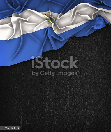 istock Nicaragua Flag Vintage on a Grunge Black Chalkboard With Space For Text 679797116