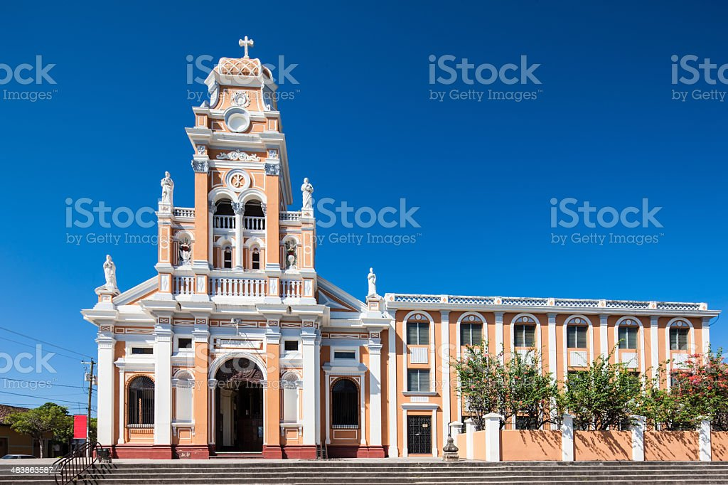 Nicaragua Granada Iglesia De Xalteva Church stock photo