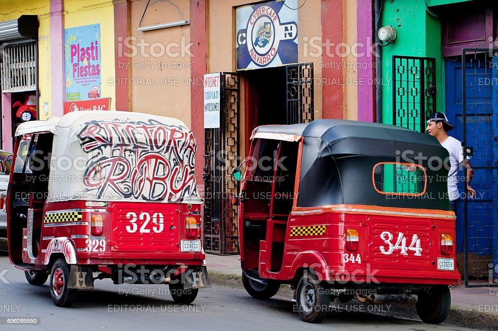 Nicaragua Mototaxis stock photo