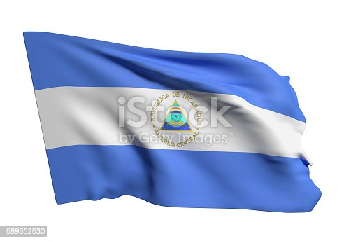 istock Nicaragua Republic flag waving 589552530