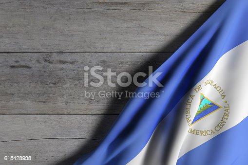 istock Nicaragua Republic flag waving 615428938