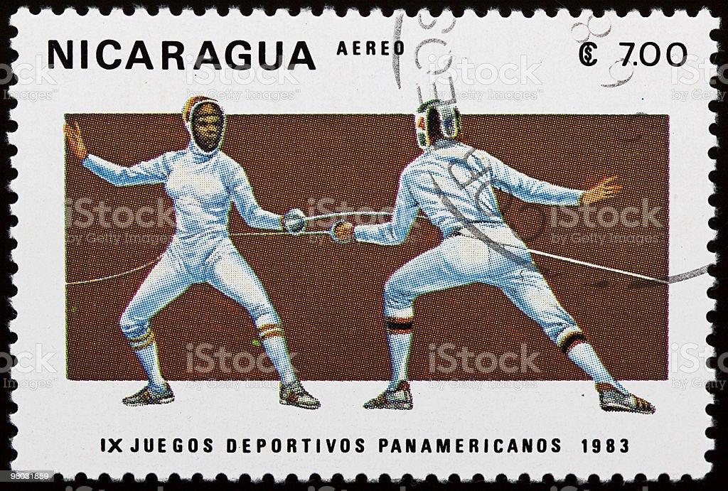 니카라구아 스템프 royalty-free 스톡 사진