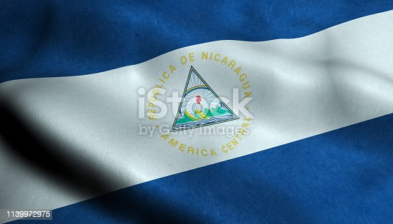 istock Nicaragua Waving Flag in 3D 1139972975