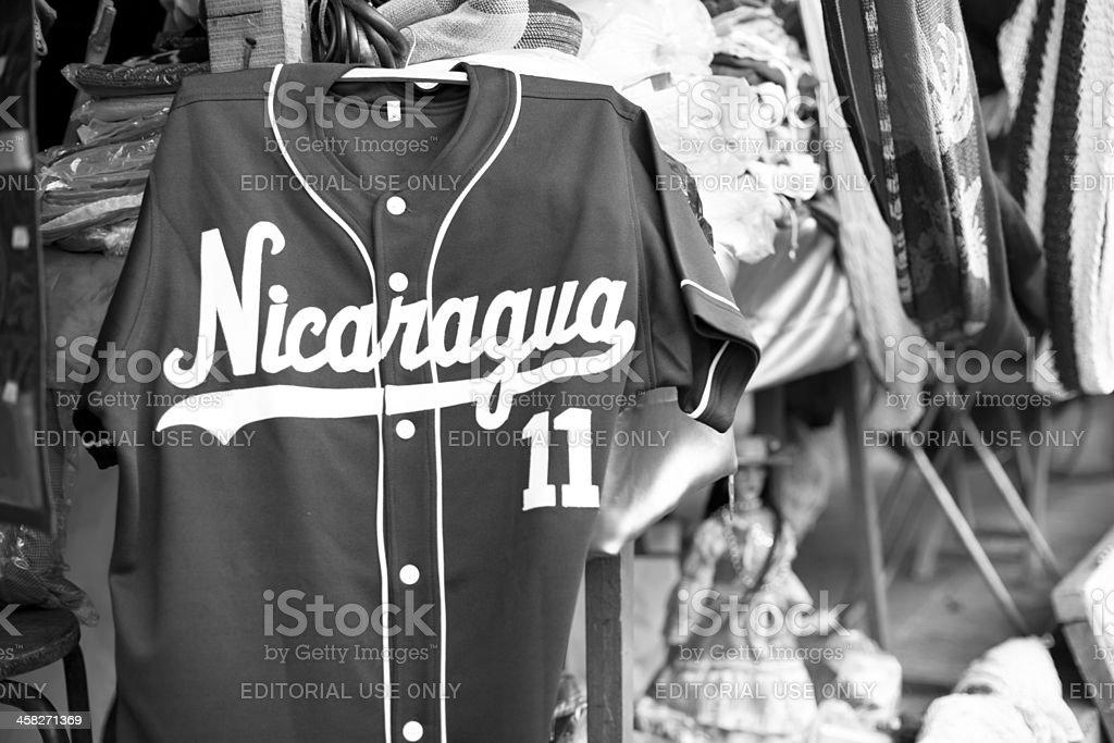 Nicaraguan baseball t-shirt stock photo