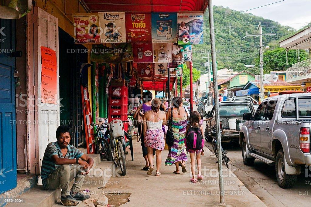Nicaraguan Market stock photo