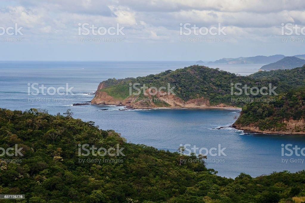 Nicaraguan Pacific Coastline stock photo