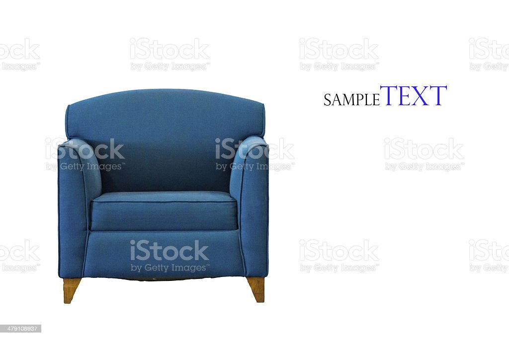 Nice and luxury leather sofa stock photo