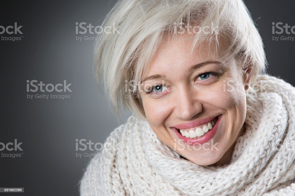 Nice and stylish woman portrait stock photo