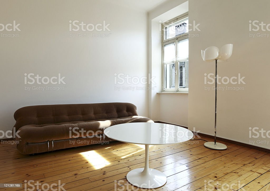 nice apartment refitted, retro style living-room royalty-free stock photo