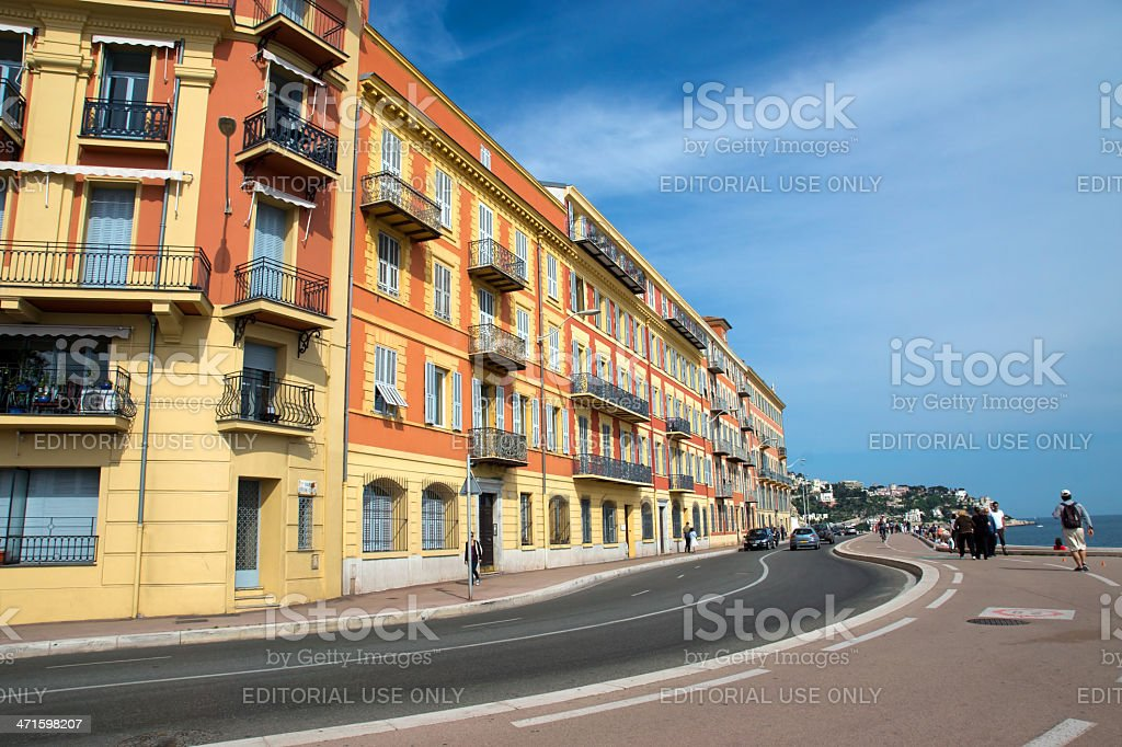 Nice - Architecture along the Promenade des Anglais royalty-free stock photo