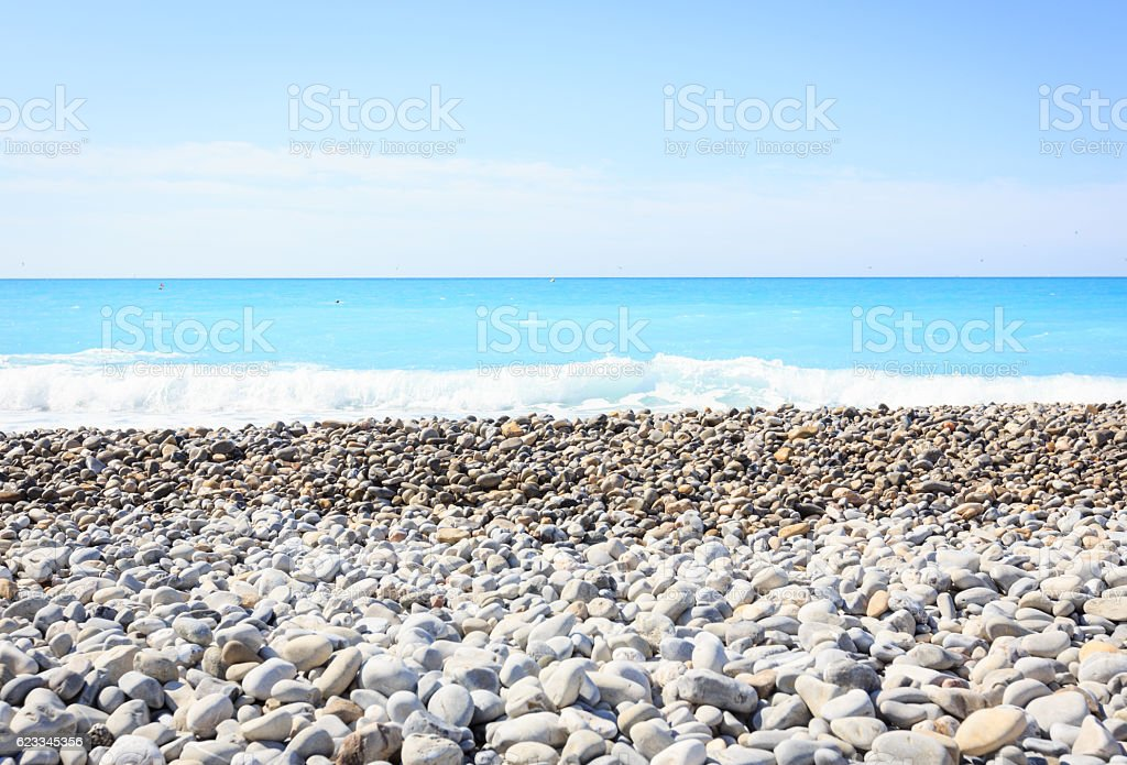Nice beach, Cote d'Azur (French Riviera), France stock photo