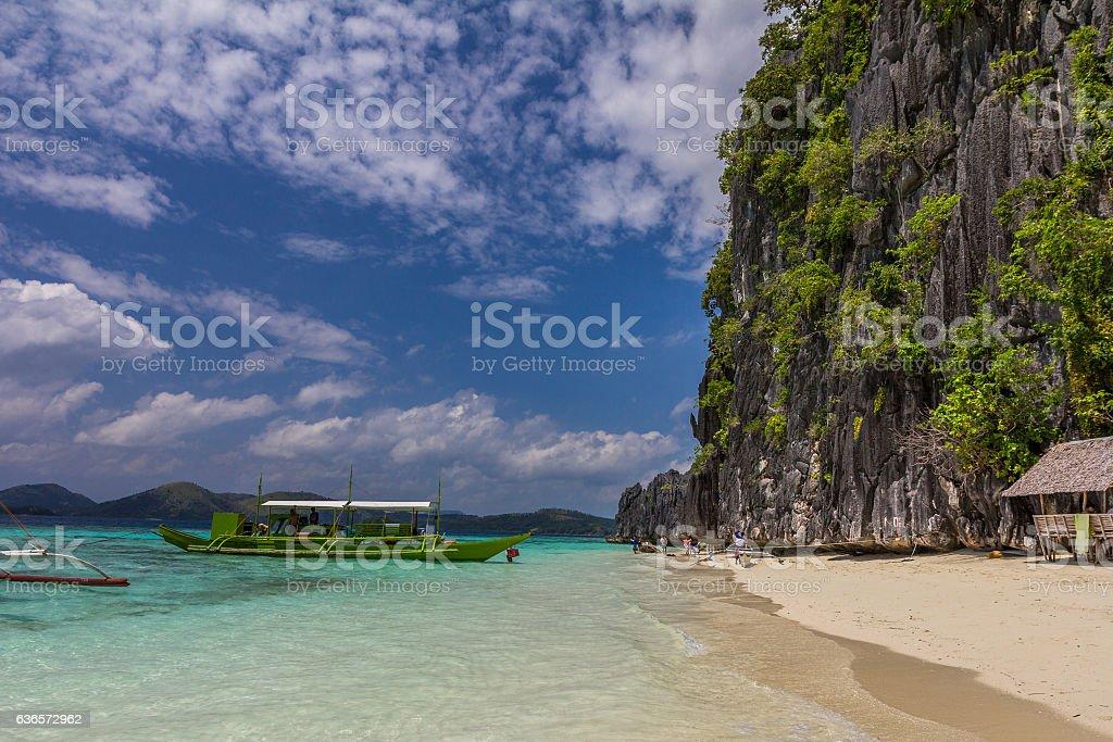 Nice beach in Coron Palawan Philippines stock photo
