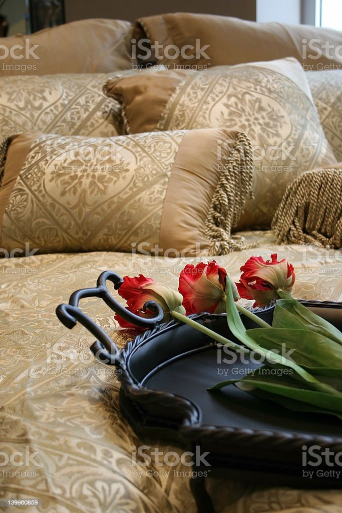 nice bed royalty-free stock photo
