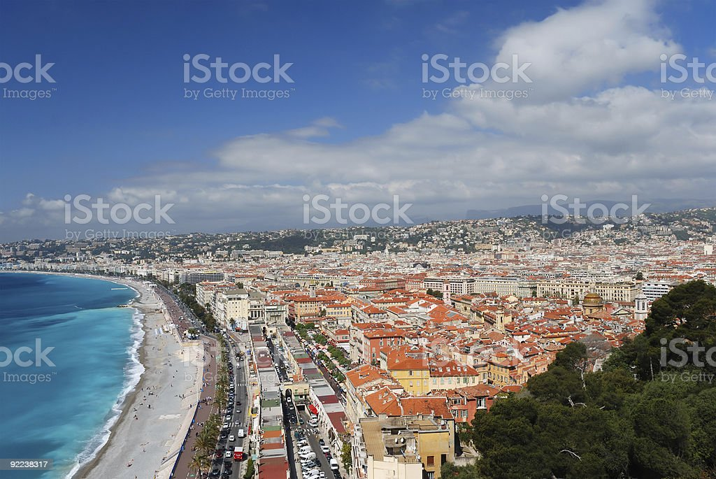 Nice between azure sea and blue sky royalty-free stock photo