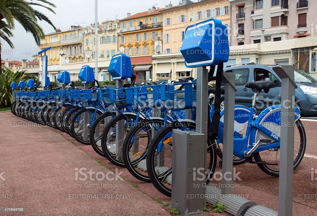 Nice - Bicycles royalty-free stock photo
