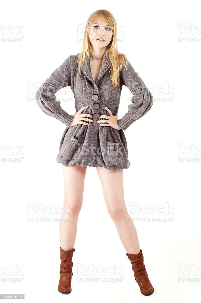 nice blond girl royalty-free stock photo
