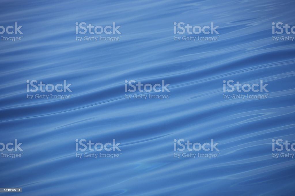 Nice blue water ripples royalty-free stock photo