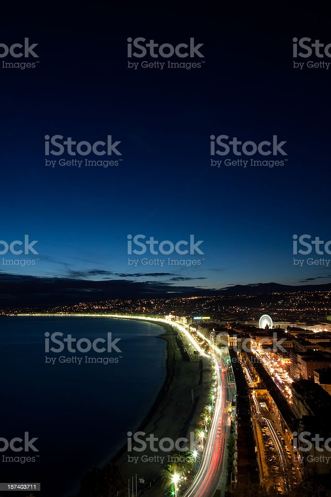 Nice by night royalty-free stock photo