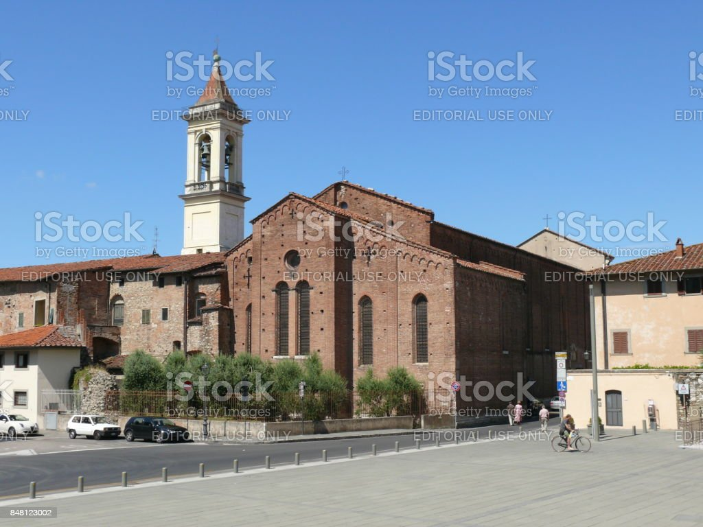 Nice church in Prato stock photo