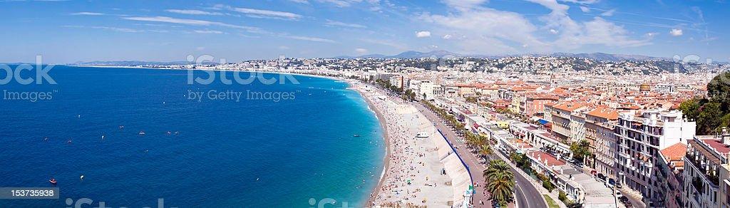 Nice city coastline royalty-free stock photo