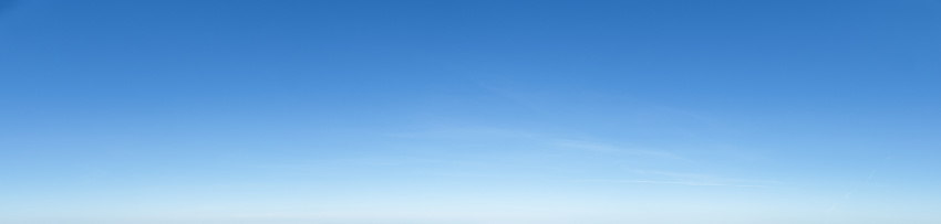 Nice cloudless empty blue sky panorama background