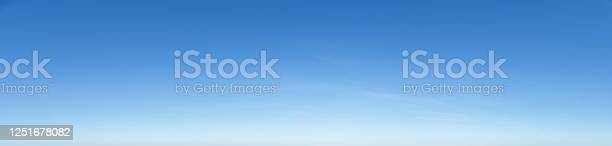 Photo of Nice cloudless empty blue sky panorama background