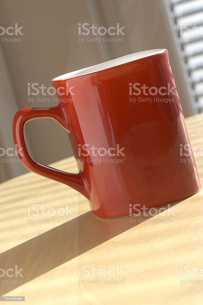 Nice coffee mug on the table royalty-free stock photo