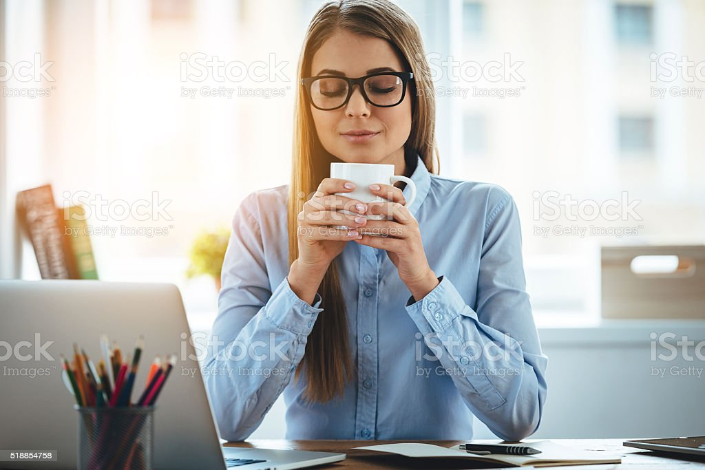 Nice coffee! stock photo