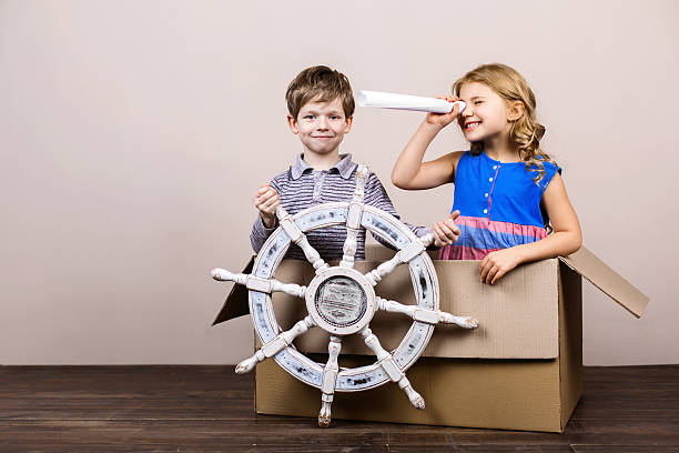 nice concept for childhood dreams - vintage nautical stock photos and pictures