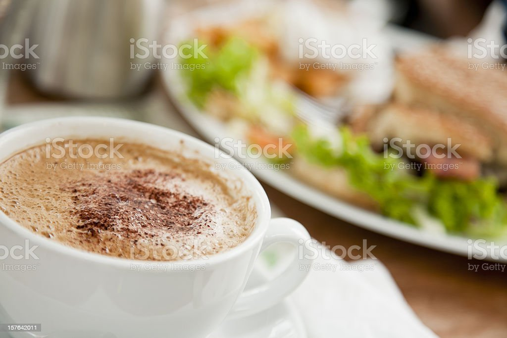 Nice cop of coffee royalty-free stock photo