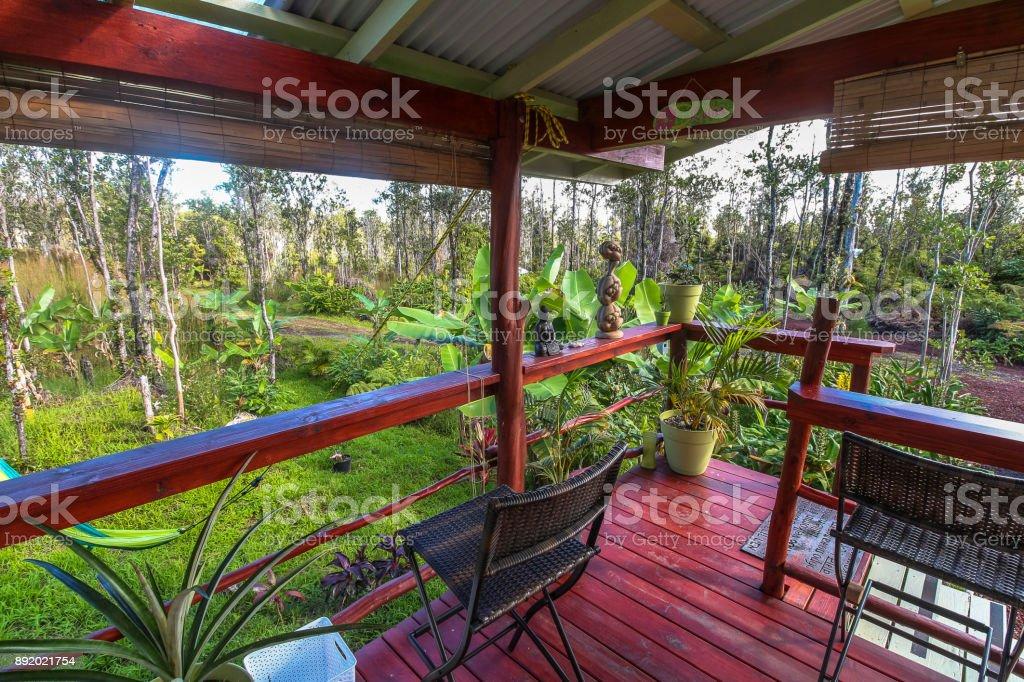 Terraza Agradable Casa Rural En Isla Grande Foto De Stock Y