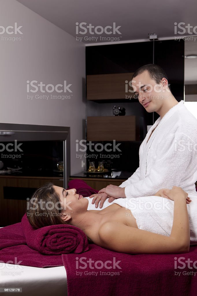 Nice Couple in the Spa royalty-free stock photo