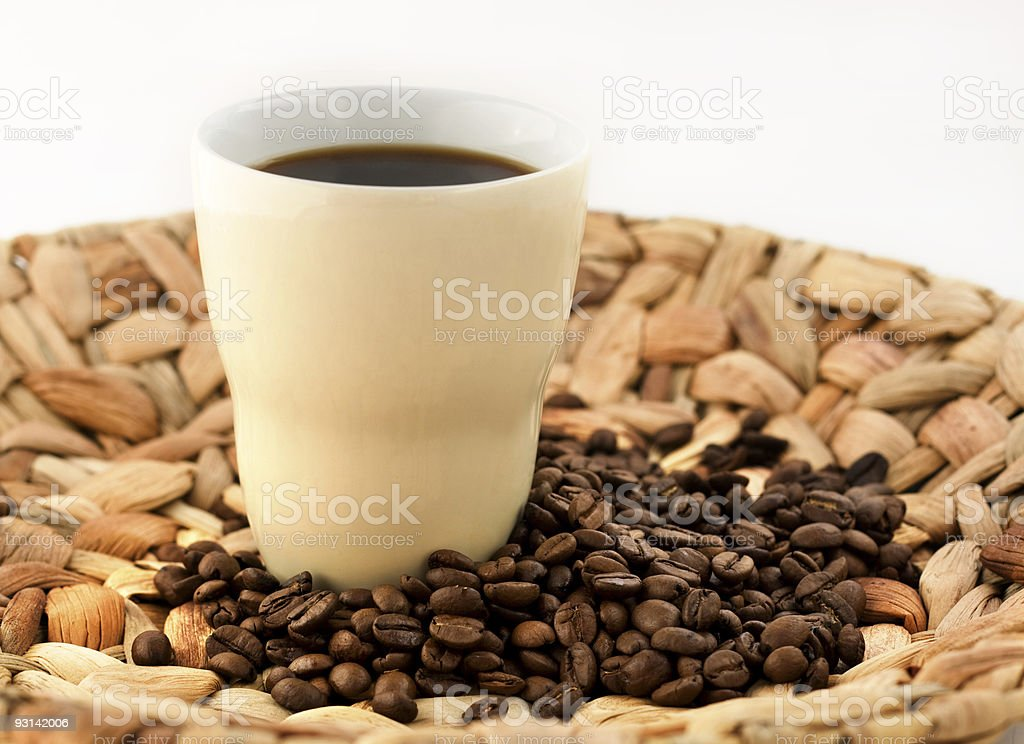 Nice cup of coffee stock photo