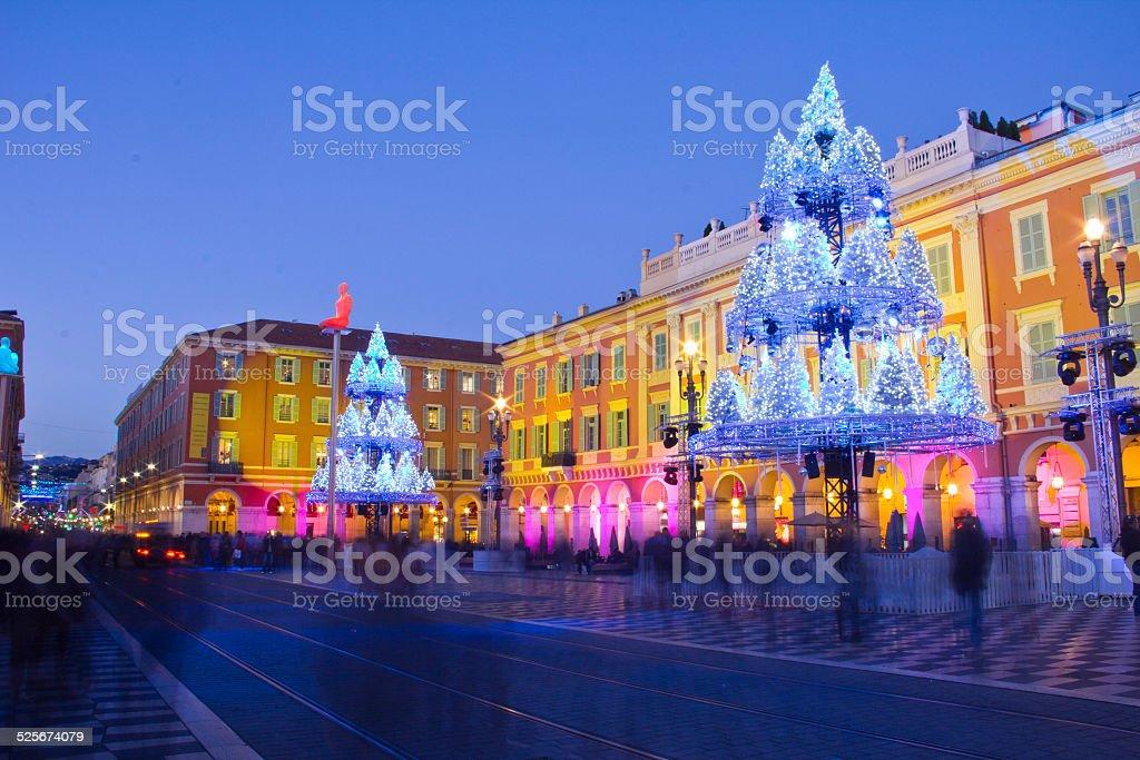 Schön dekoriert zu Weihnachten, Frankreich – Foto